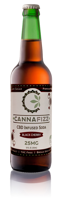 CannaFizz™ Black Cherry 12 oz glass bottles