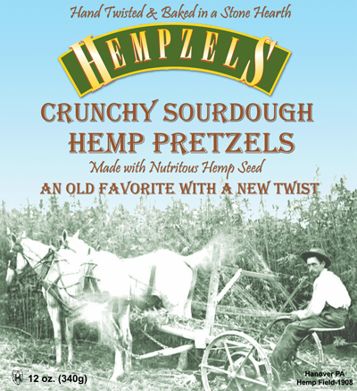 Hempzels™ Sourdough Original Crunchy Pretzels 18/Per Case