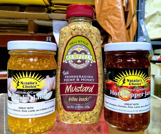 3 for $12 - Our Best Sellers, Mustard, Garlic, Pepper jam