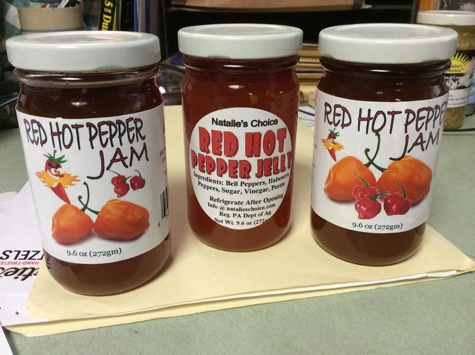Jam- Red Hot Sweet Pepper No Hemp