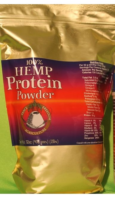 Hemp Protein Powder 50%  per serving 32oz