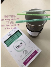 Hemp Drinking Straws Box 100 1/3 hemp 2/3 plant