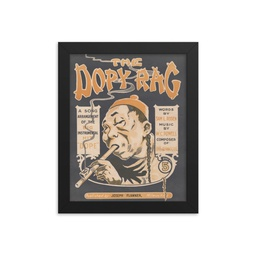 "Dopy Rag Smoking A Pipe Full Framed 8""x10"""