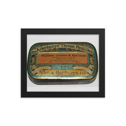Throat Pastilles with Cocaine Tin Framed Print